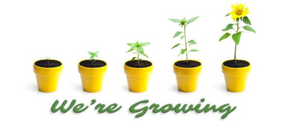We're Growing!